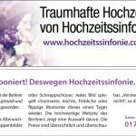 Hochzeitssinfonie - aktuelles Angebot